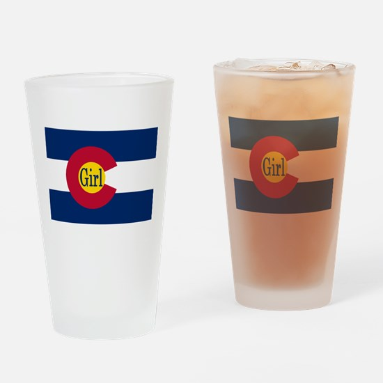 Colorado Girl Flag Drinking Glass