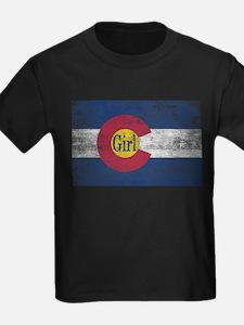 Colorado Girl Flag Aged T