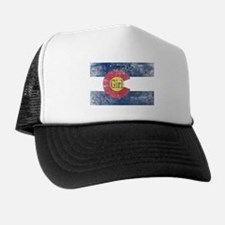 Colorado Girl Flag Aged Trucker Hat