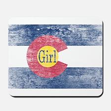 Colorado Girl Flag Aged Mousepad