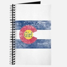 Colorado Girl Flag Aged Journal