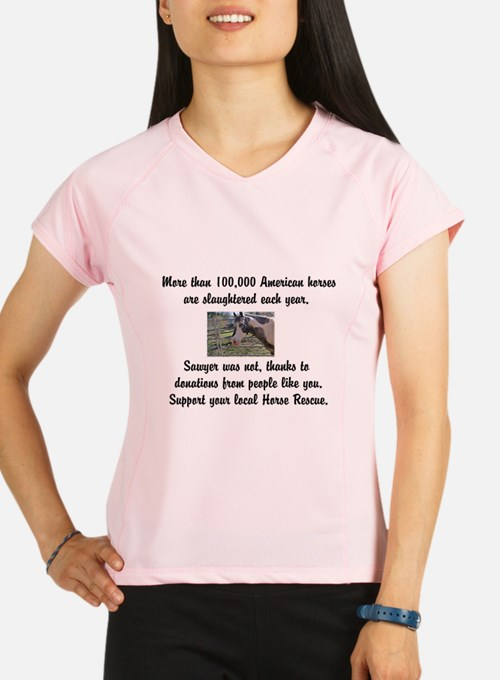 Support Horse Rescue Performance Dry T-Shirt