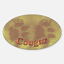 Cougar Tracks Oval Decal