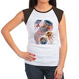 Jellyfish Women's Cap Sleeve T-Shirt