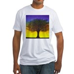 55.wizdomtree..? Fitted T-Shirt