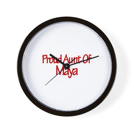 Proud Aunt of Maya Wall Clock
