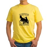Combined driving Mens Yellow T-shirts