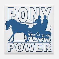 Cute Ponies Tile Coaster