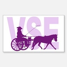 Funny Horse and carriage Sticker (Rectangle)