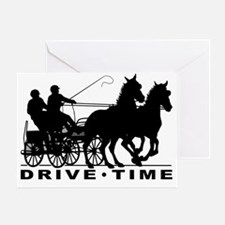 Unique Horses carriages Greeting Card