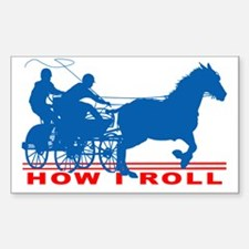 Cool Horse and carriage Sticker (Rectangle)