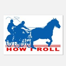 Cute Horses carriages Postcards (Package of 8)