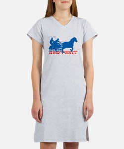 How I Roll - Carriage Driving Women's Nightshirt