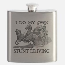 Funny Horses carriages Flask