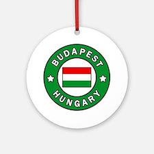 Cute Budapest Round Ornament