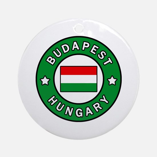 Cute Hungary flag Round Ornament