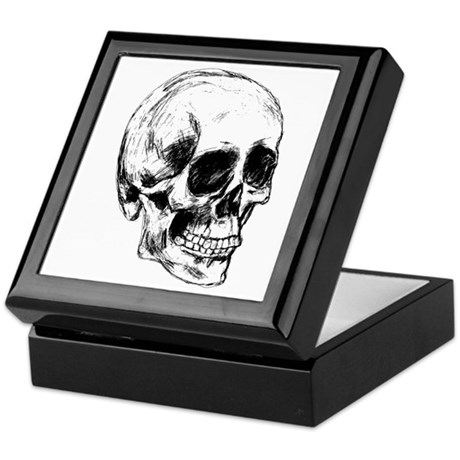 Cool Skull Keepsake Box