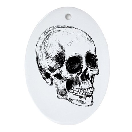 Cool Skull Oval Ornament