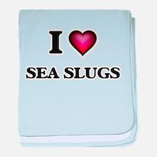 I Love Sea Slugs baby blanket