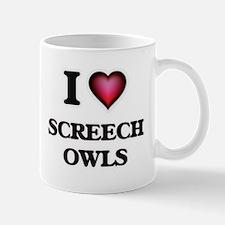 I Love Screech Owls Mugs