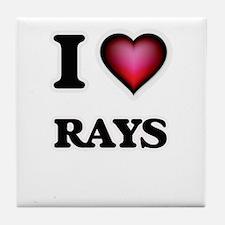 I Love Rays Tile Coaster