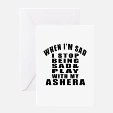 Play With Ashera Cat Greeting Card