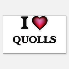 I Love Quolls Decal