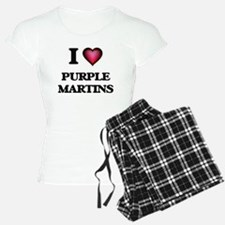 I Love Purple Martins Pajamas