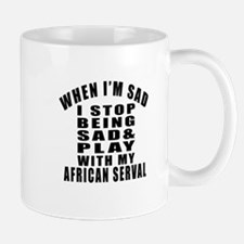 Play With African serval Cat Mug