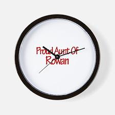 Proud Aunt of Rowan Wall Clock