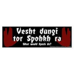 What Would Spock Do? Bumper Bumper Sticker