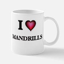 I Love Mandrills Mugs