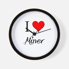 I Love My Miner Wall Clock