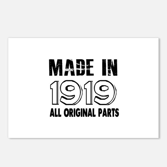 Made In 1919 Postcards (Package of 8)