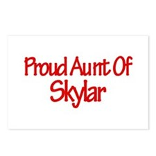 Proud Aunt of Skylar Postcards (Package of 8)