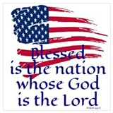 Blessed is the nation whose god is the lord Wrapped Canvas Art