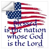 Blessed is the nation whose god is the lord Wall Decals