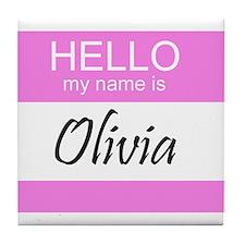 Olivia Tile Coaster