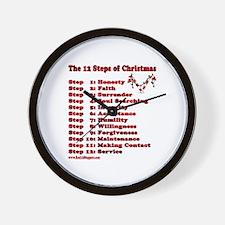 12 Steps Of Christmas Wall Clock