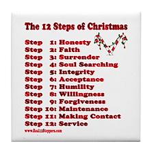 12 Steps Of Christmas Tile Coaster