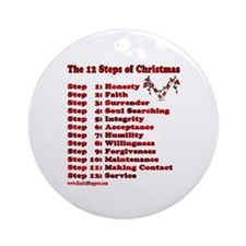 12 Steps Of Christmas Ornament (Round)