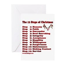 12 Steps Of Christmas Greeting Cards (Pk of 10)