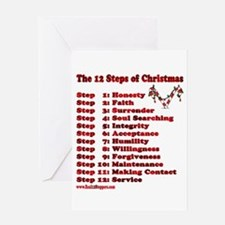 12 Steps Of Christmas Greeting Card