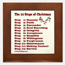 12 Steps Of Christmas Framed Tile