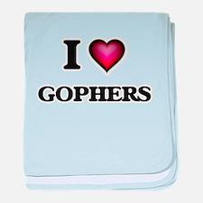 I Love Gophers baby blanket