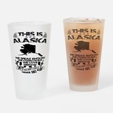 This Is Alaska Black & White Drinking Glass