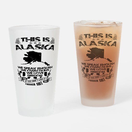 This Is Alaska Black & White Drinking Glass