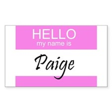 Paige Rectangle Decal