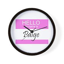 Paige Wall Clock