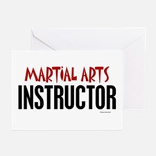 Martial Arts Instructor Greeting Cards (Pk of 10)